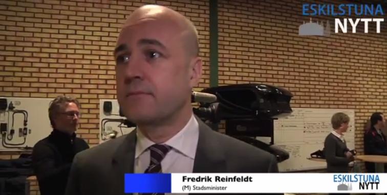 Webb-TV: Reinfeldt i Eskilstuna