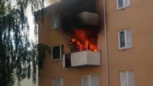 Lägenhetsbrand Fröslunda