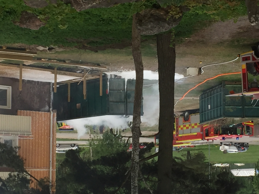 Containerbrand i Torshälla
