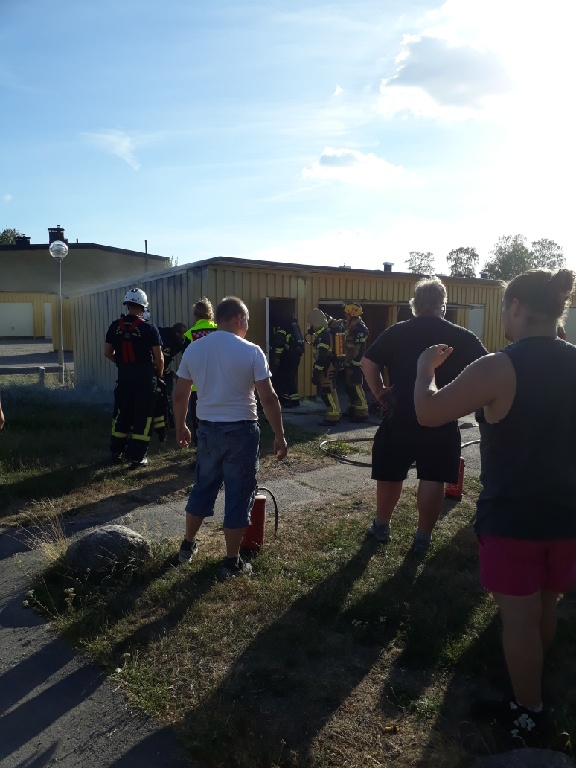 Garagebrand i Slagsta